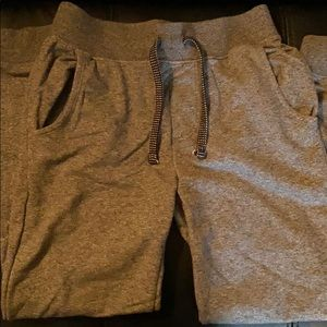 Top and bottom sweat material